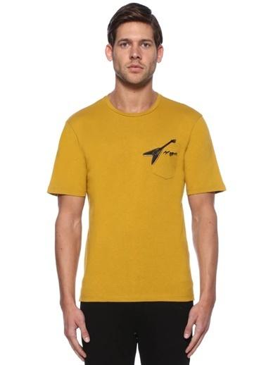 The Kooples Baskılı Bisiklet Yaka Tişört Sarı